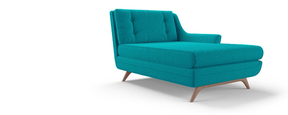 Eastwood single arm chaise joybird for Chaise 2 places