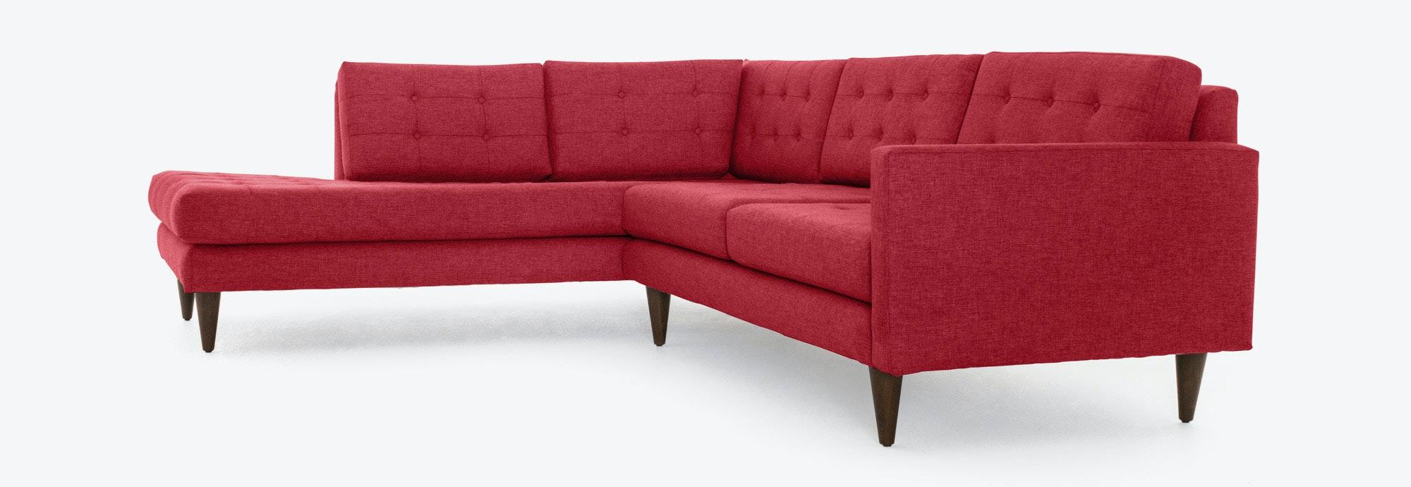 Eliot Sectional With Bumper Joybird ~ Mid Century Chaise Sofa