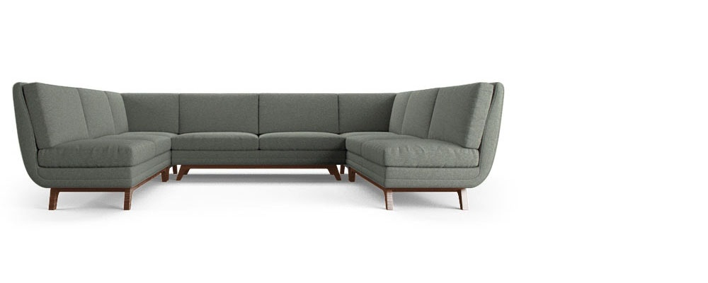 Calhoun Armless U Sofa Sectional