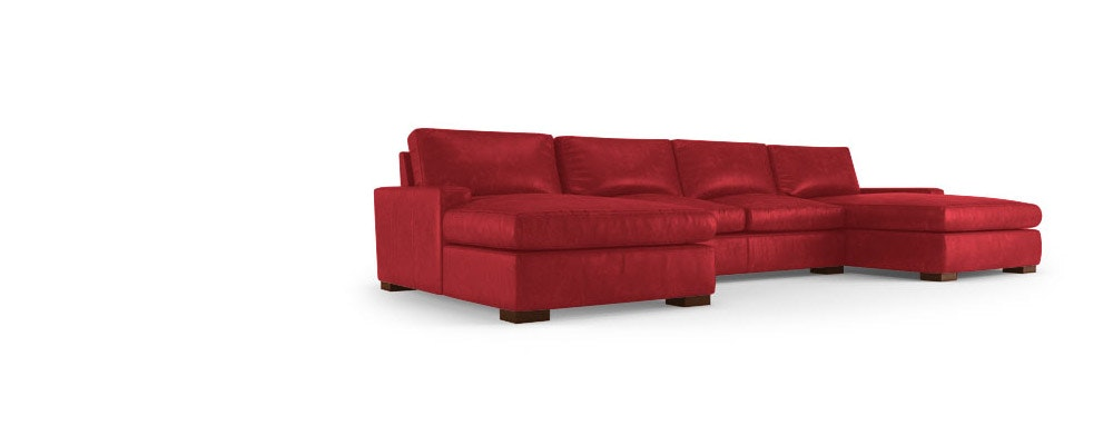 Anton Leather U Chaise Sectional Joybird