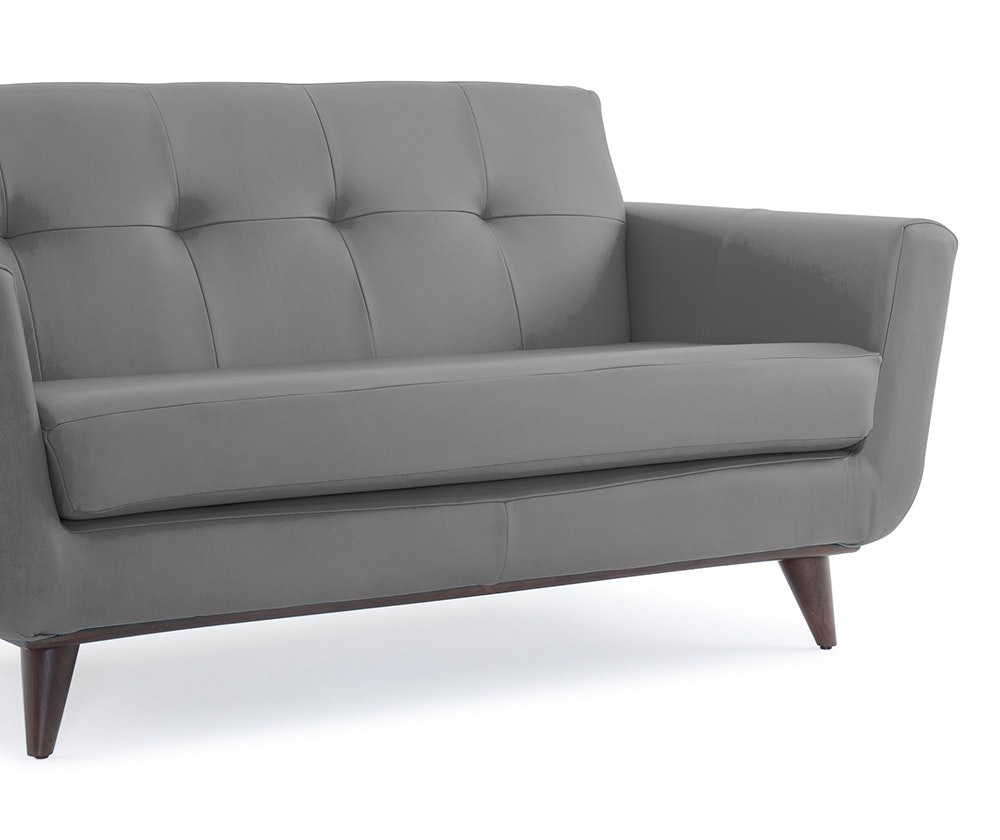 Hughes Leather Apartment Sofa | Joybird