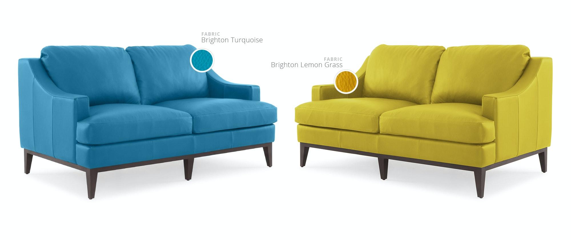 Eq3 Leather Sofa Images Solo Rooms Modern Orange