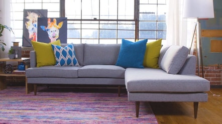 Preston Sectional with Bumper