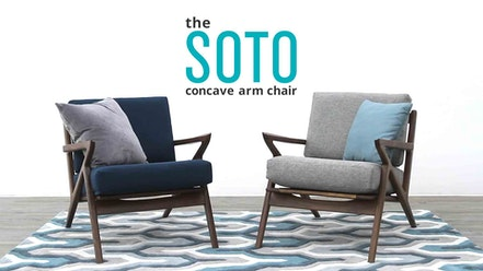 Soto Concave Arm Chair by Joybird Furniture